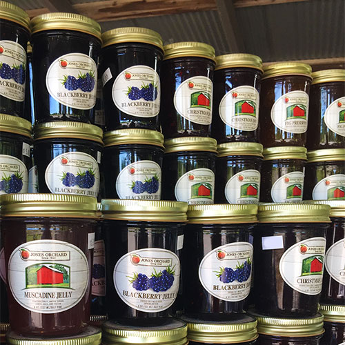 Farm Fresh Jams, Jellies, and homemade relishes at the Farm Market